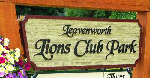 Lions Club Park sign
