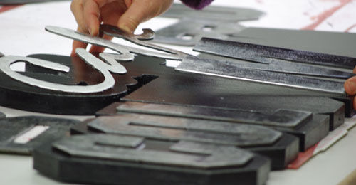 cut out steel letters