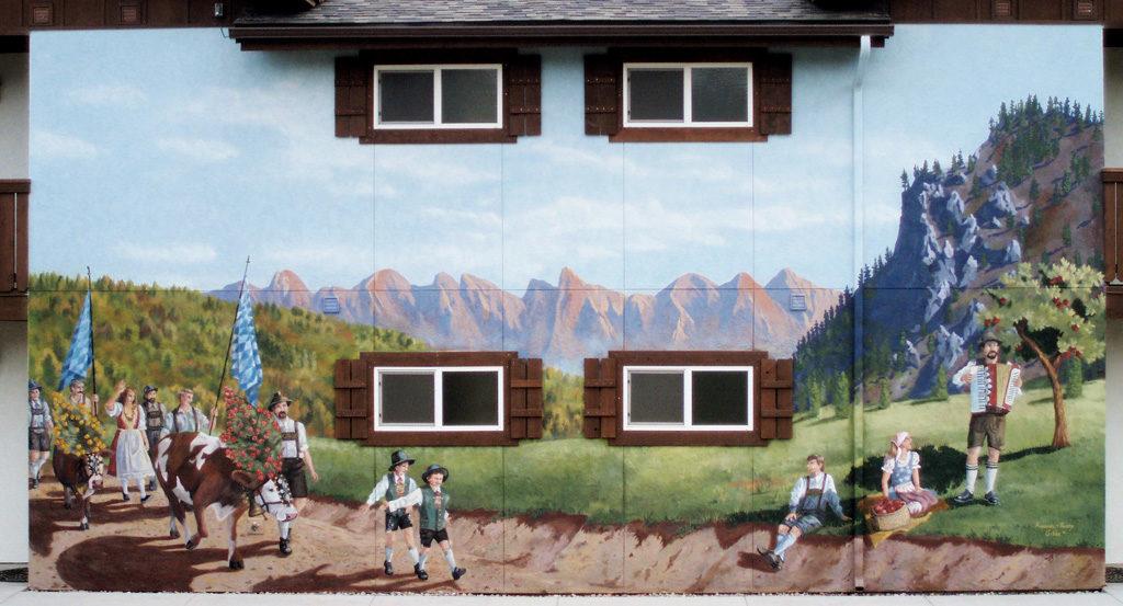 Cow Walk Mural 1