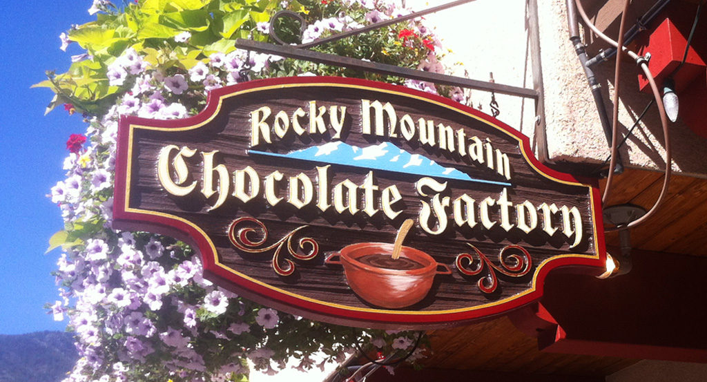 Rocky Mountain Chocolate Factory Sign