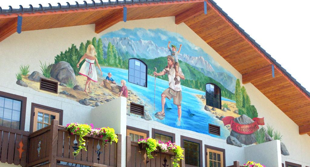 St Christopher Mural