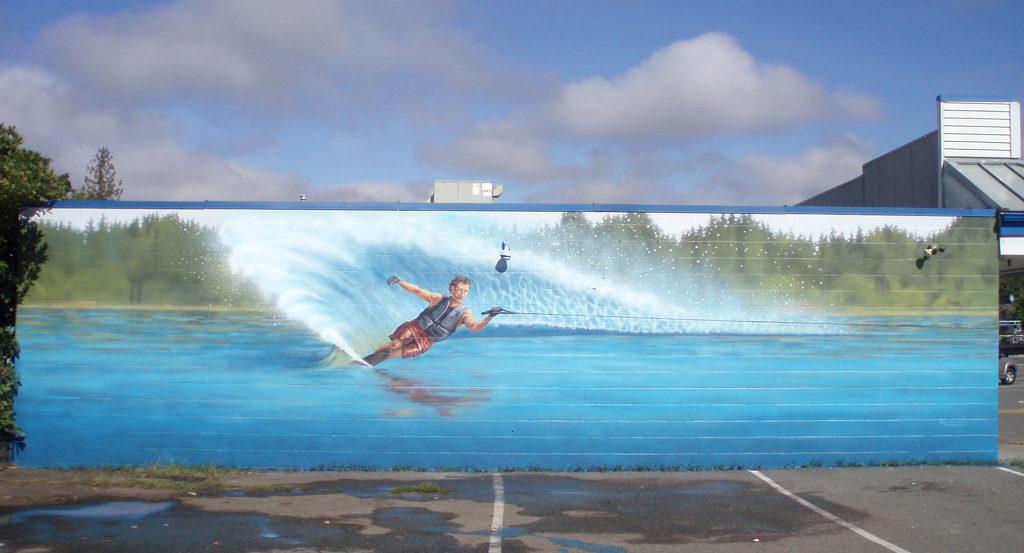 Waterskier Mural