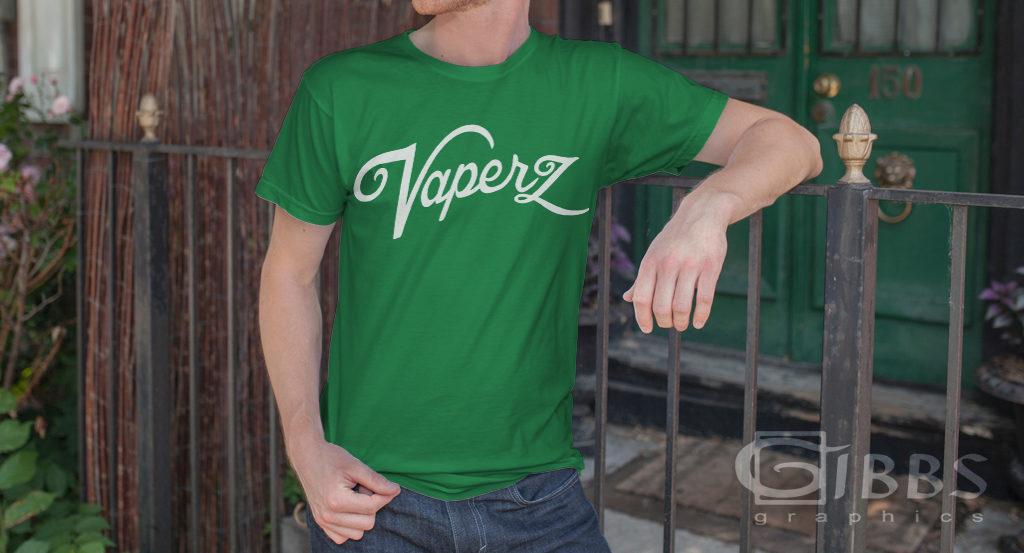 Vaperz T shirt mockup