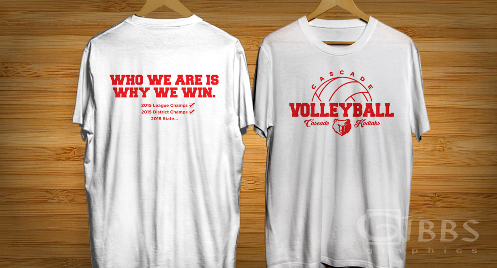 Volleyball T shirt mockup