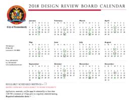 DRB calendar 2018