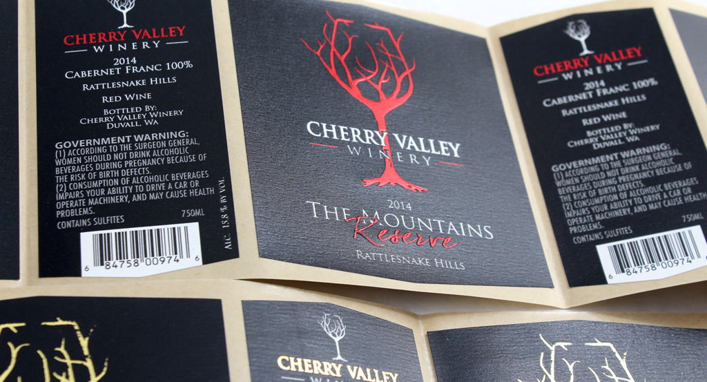 Cherry Valley Winery label