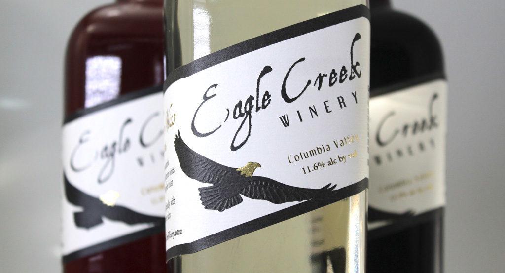 Eagle Creek Winery label