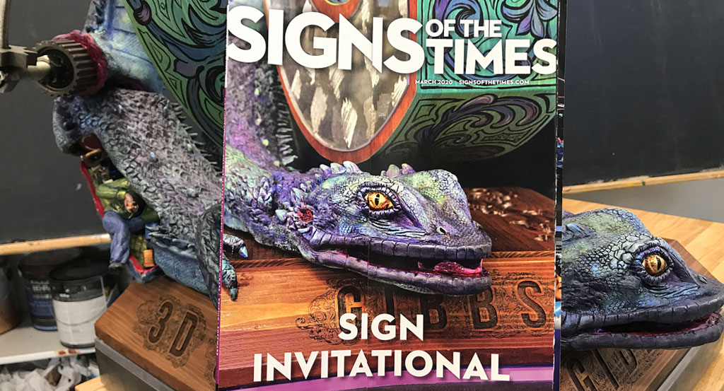 Our sign makes the magazine cover!